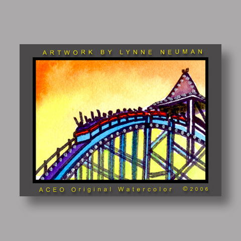 Signed ACEO *Cedar Point Ohio #892* by Lynne Neuman