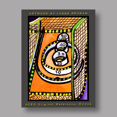 Signed ACEO *Skeeball Arcade #1248* by Lynne Neuman