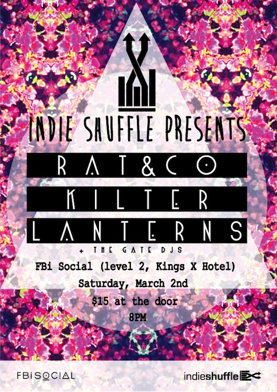 Indie Shuffle Presents-Rat & Co, Kilter and Lanterns