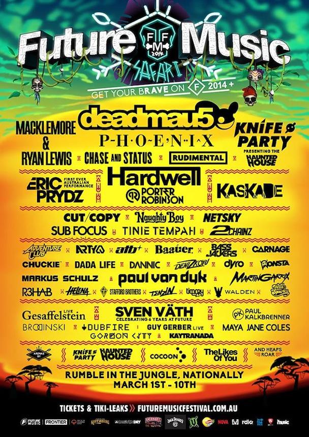 Future Music Festival 2014 - poster