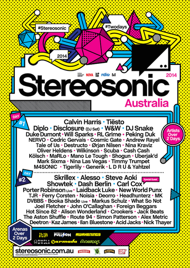 Sterosonic - Announces Line-up for 2014 - acid stag_poster