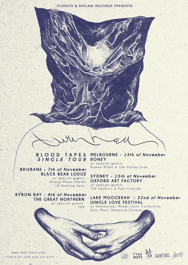 Twin Haus - tour poster - acid stag