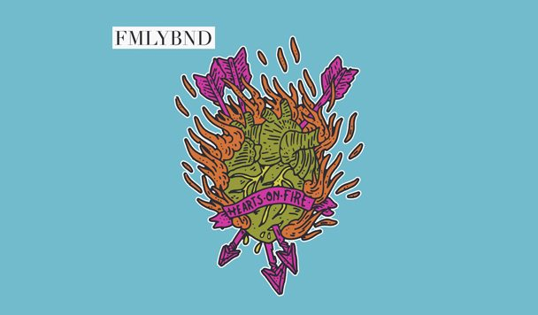 FMLYBND - Hearts On Fire EP [Stream] - acid stag