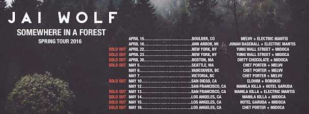 Jai Wolf - USA Tour Dates - acid stag