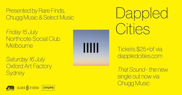 Dappled Cities - Aussie Tour Banner - acid stag