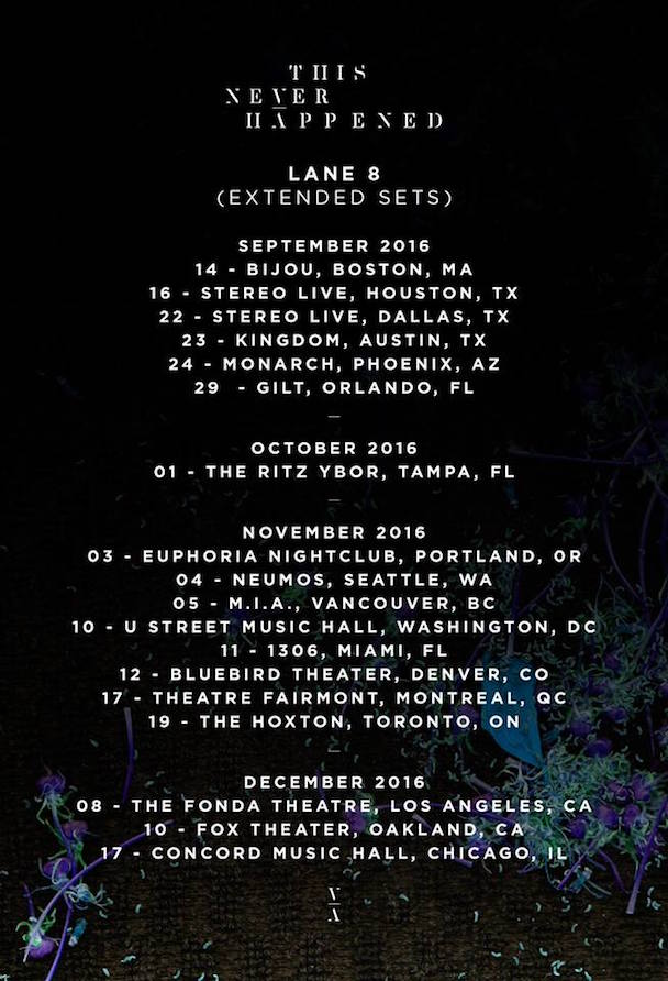 Lane 8 - US Tour - acid stag