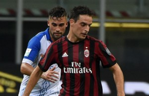 MILAN, ITALY - AUGUST 3: Giacomo Bonaventura (5) of AC Milan in action during UEFA Europa League Qualifying Round match between AC Milan and CS U Craiova at Giuseppe Meazza of San Siro Stadium Milan in Italy, on August 3, 2017.  Pier Marco Tacca / Anadolu Agency
