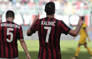 Nikola Kalinic during Serie A match between Milan v Udinese, in Milan, on September 17, 2017 (Photo by Loris Roselli/NurPhoto).