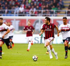 Hakan Calhanoglu of AC Milan during the Italian championship Serie A football match between AC Milan and Genoa on October 22, 2017 at San Siro stadium in Milan, Italy - Photo Morgese - Rossini / DPPI