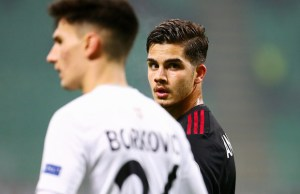 Andre Silva of Milan during the UEFA Europa League, Group D football match between AC Milan and Austria Wien on November 23, 2017 at San Siro stadium in Milan, Italy - Photo Morgese - Rossini / DPPI