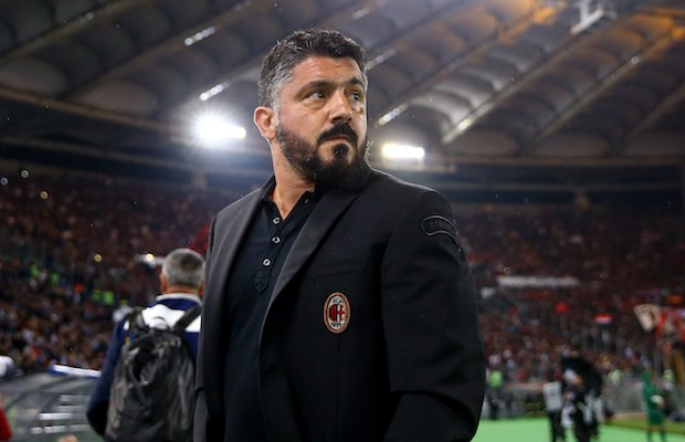 Gennaro Gattuso manager of Milan at Olimpico Stadium in Rome, Italy on May 9, 2017  during the TIM Cup Final between Juventus and AC Milan   (Photo by Matteo Ciambelli/NurPhoto)