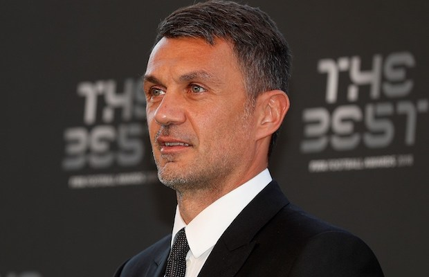 Italian former player Paolo Maldini arrives to aatned The Best FIFA Football Awards ceremony at the Royal Festival Hall in London on September 24, 2018. (Photo by Adrian DENNIS / AFP)