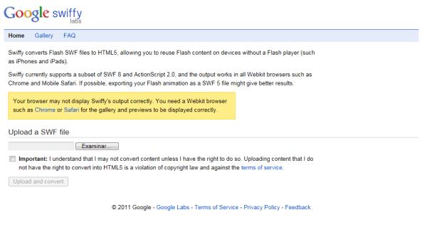 Convertir archivos de Flash a HTML5