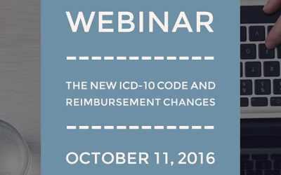 Webinar: The NEW ICD-10 Code and Reimbursement Changes