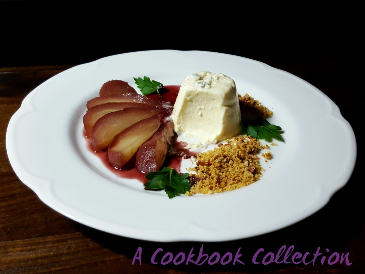 Blue Cheese Panna Cotta with Spiced Poached Pear