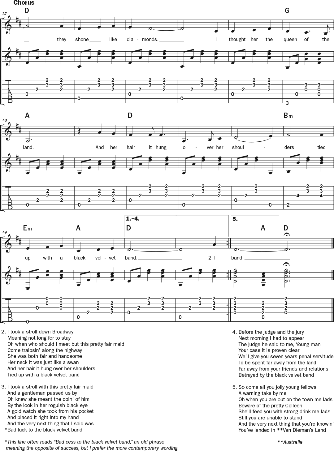 Black Velvet Band Learn To Play This Popular Irish Waltz