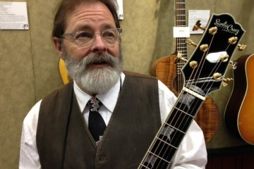 Richard Hoover with the Santa Cruz 40th anniversary commemorative F Model