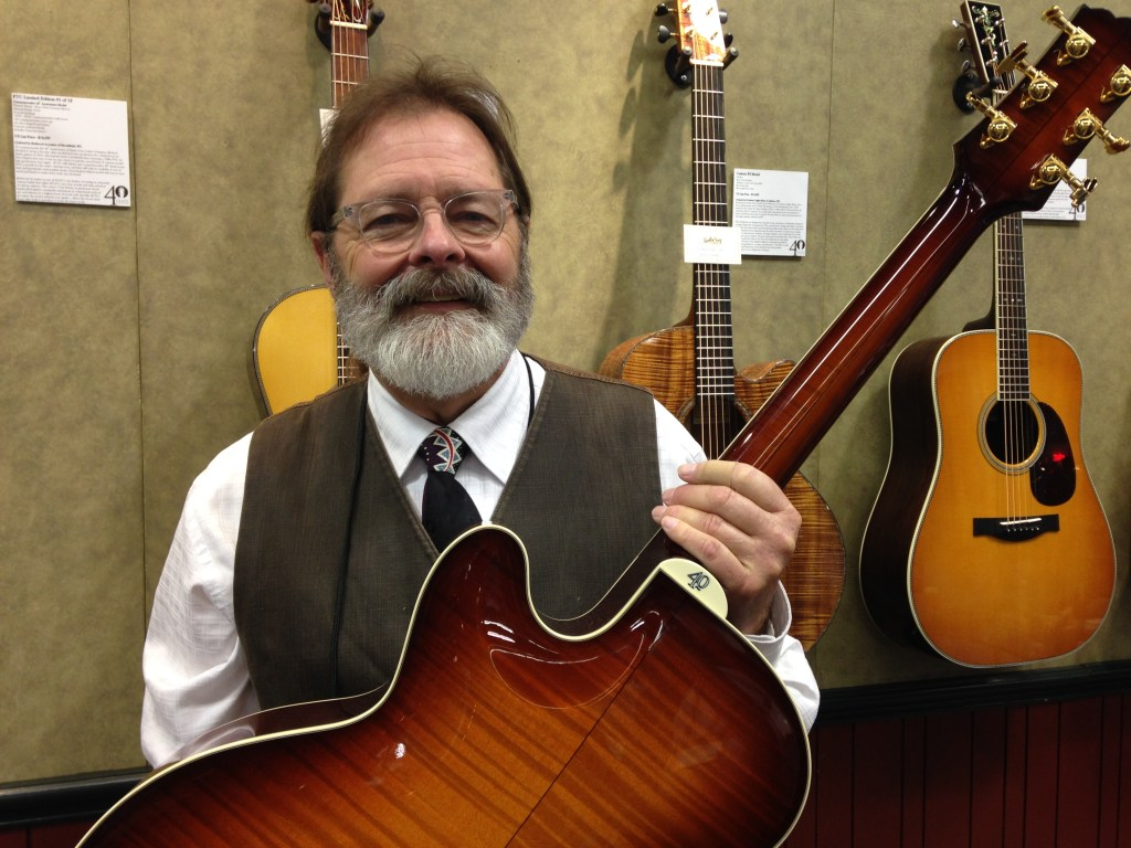 Richard Hoover with the Santa Cruz 40th Anniversary F model (back)