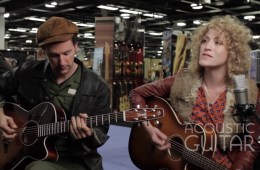 Sarah Alli and James Deprato Acoustic Guitar Session NAMM 2016