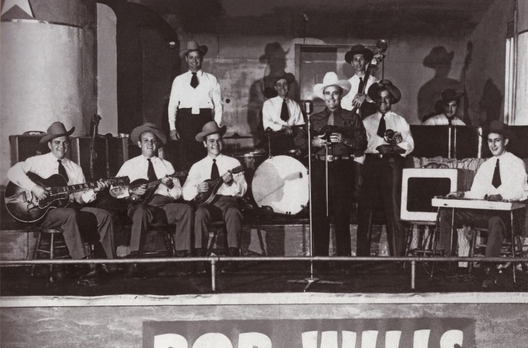 Bob Wills and His Texas Playboys, with Eldon Shamblin (left) using a Gibson Super 400.