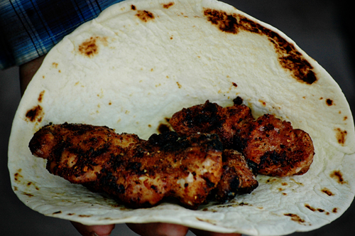 Sweetbreads on a Tortilla