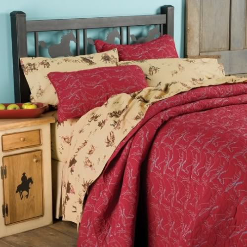 red horse bedspread