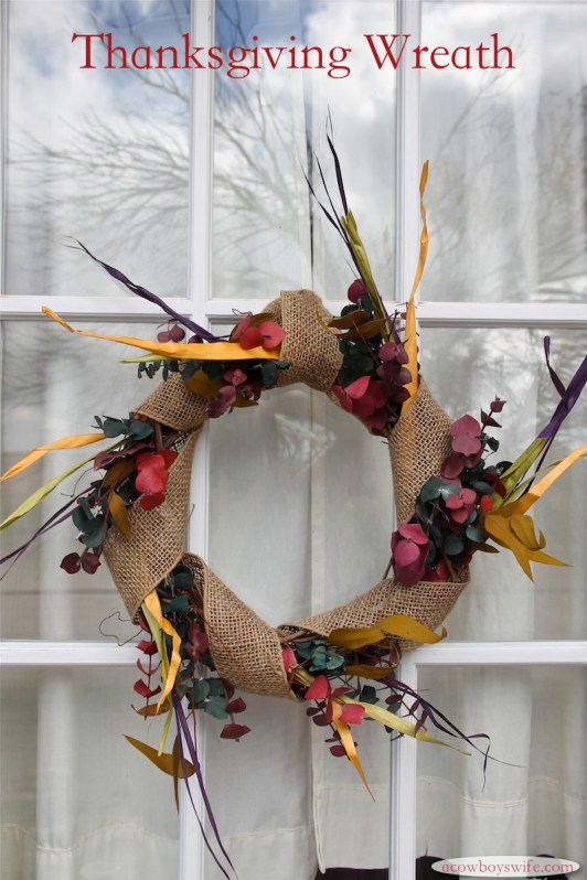 DIY Thanksgiving Wreath