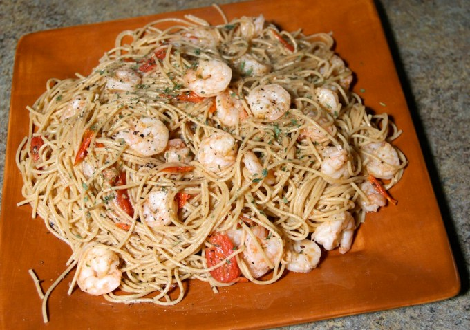 shrimp and vegatable pasta