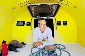 Ivan Macfadyen aboard the Funnel Web