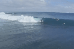 Pro Surfers Enjoy Perfect Playtime Surf in Fiji
