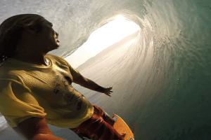 Mikala Jones Knows How to Grab a Sunset Barrel