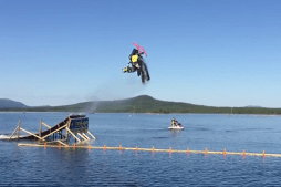 Snowmobile Rider Lands First-Ever Backflip on Water