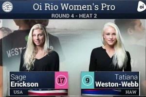 Battle of the Blondes – Sage Erickson vs Tatiana Weston-Webb – Oi Rio Pro