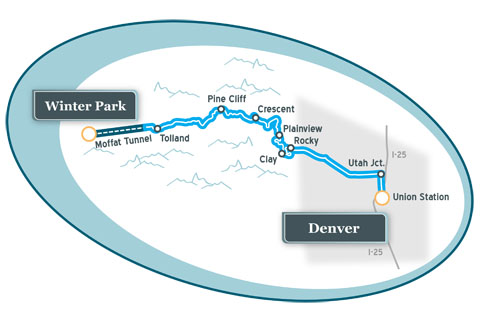 Ski Train Route Map