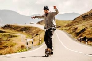 Swiss skateboarder manuals for over two kilometres | Simon Stricker's Manual