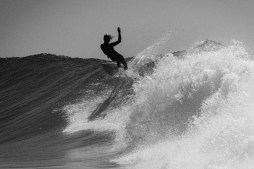 Alek Knost, Jack Lynch, Alrik Yuill, and SURFER Photo Editor Grant Ellis in Baja