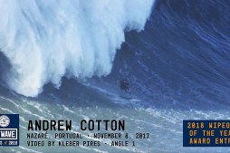 Andrew Cotton at Nazaré – 2018 Wipeout of the Year Award Entry – WSL Big Wave Awards