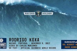 Rodrigo Koxa World Record at Nazaré – 2018 Quiksilver XXL Biggest Wave Award Winner