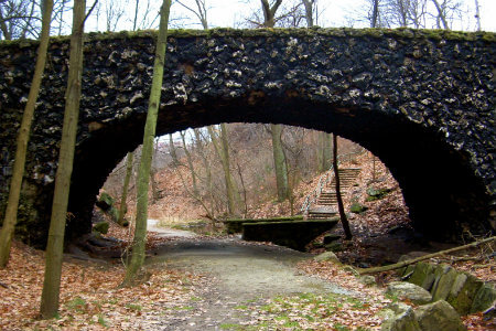 a hiking trail at schenley park in pittsburgh pennsylvania