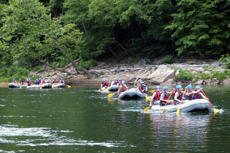 white water rafting at ohiopyle near pittsburgh pennsylvania