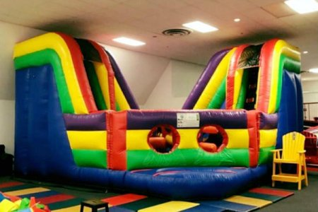 planet bounce in canonsburg has several inflatable structures kids can play on