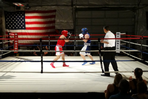 a boxing match at wolfpack boxing in pittsburgh pennsylvania