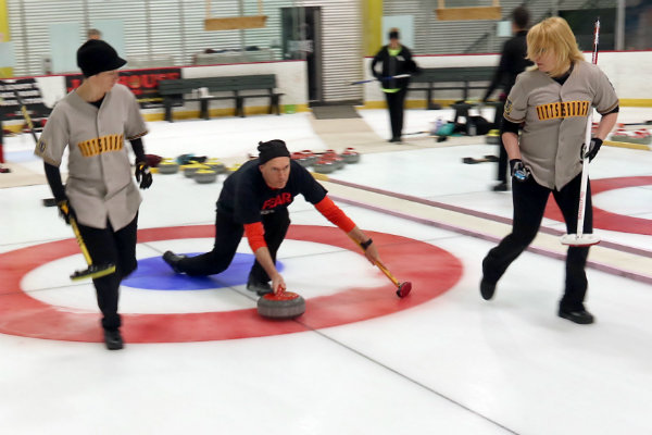 the pittsburgh curling club practices at the rmu island sports center in neville township