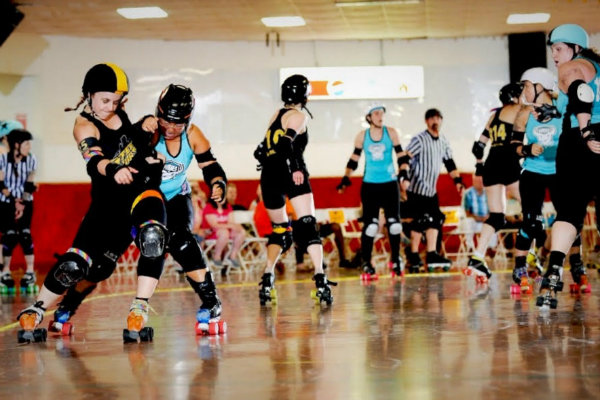 women of the steel city roller derby league compete in pittsburgh pennsylvania