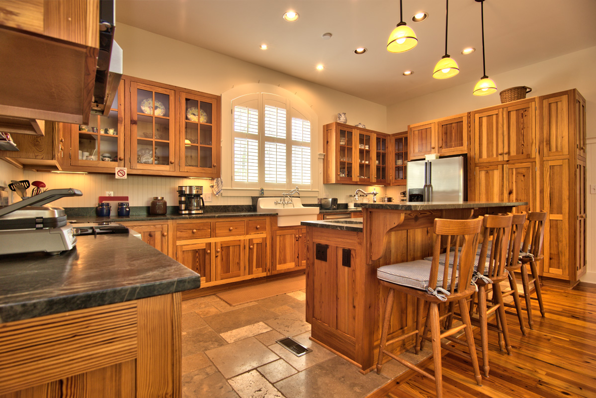 aged heart pine reclaimed doors english country home on 12 acres pine cabinets kitchen Cold Springs kitchen cabinets