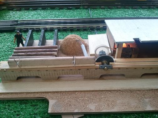 Miniature lumber mill