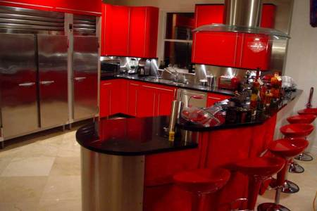 red kitchen theme ideas for kitchen's modern look | actual