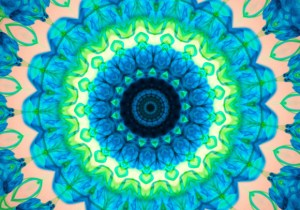 kaleidoscope-blue-liquid-green-smoke-radial-circle