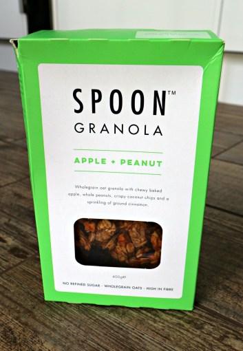 spoon apple + peanut granola