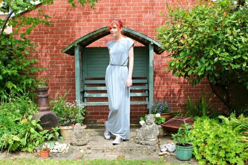 krisp clothing grey maxi dress